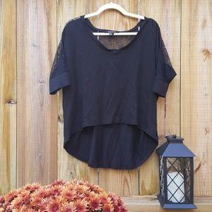Drapey black blouse